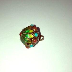 Jewelry - Cloisonné multi color sterling pendant
